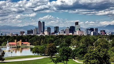 Denver Skyline Photograph - Denver Skyline by Mountain Dreams