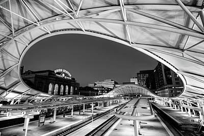 Stellar Interstellar - Denver Union Station - 1914 Beaux-Arts Train Station - Black and White by Gregory Ballos