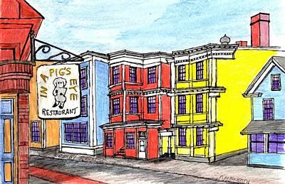 Drawing - Derby Street Salem by Paul Meinerth