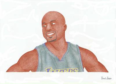 Derek Fisher Art Print by Toni Jaso