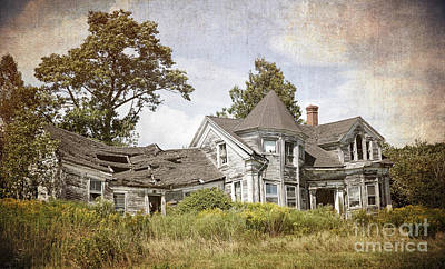 Derelict House Art Print by Jane Rix