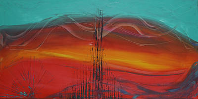 Abstractabstract Painting - Desert Cathedral by Karla Britfeld