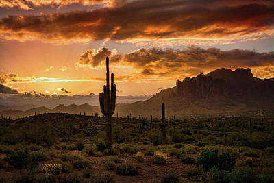 Photograph - Desert Dawn Breaking  by Saija Lehtonen