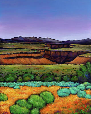 Clear Sky Painting - Desert Gorge by Johnathan Harris