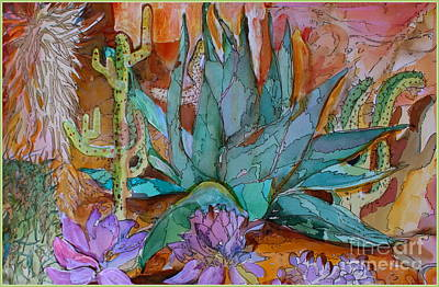 Aloe Painting - Desert Heat by Mindy Newman