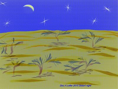 Digital Art - Desert Night by Dr Loifer Vladimir