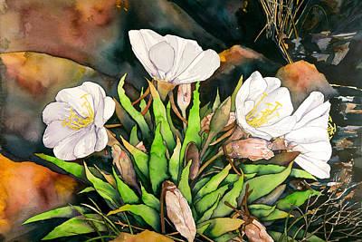 Painting - Desert Primrose by Jeff Kastning