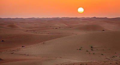 Photograph - Desert Sunrise by Alexey Stiop