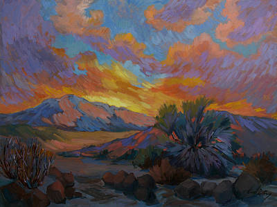 Painting - Desert Sunrise by Diane McClary