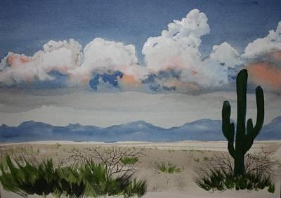 Desert Thunderheads Art Print