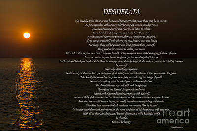 Photograph - Desiderata 23 by Wendy Wilton