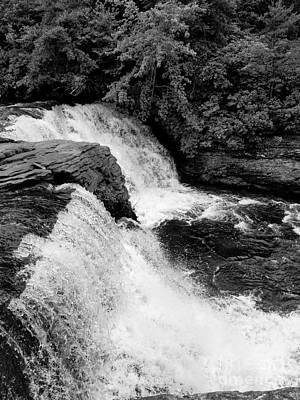 Photograph - Desoto Falls Bw  by Rachel Hannah