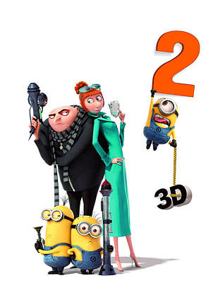 Scary Digital Art -  Despicable Me 2 2013  by Fine Artist