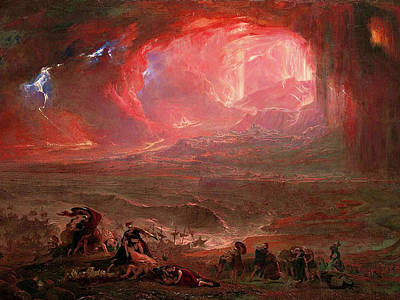 Katharine Hepburn - Destruction of Pompeii and Herculaneum by John Martin