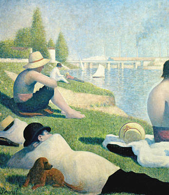 Detail From Bathers At Asnieres Art Print by Georges Pierre Seurat
