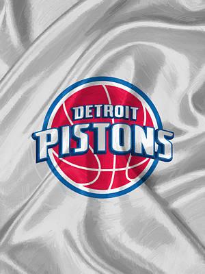 Basketball Digital Art - Detroit Pistons by Afterdarkness