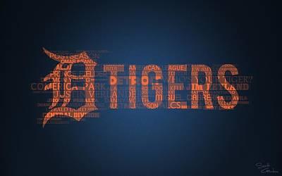 Detroit Tigers Digital Art - Detroit Tigers                     by F S