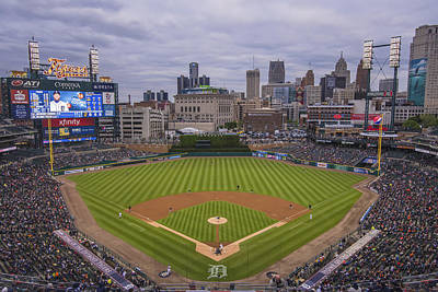 Photograph - Detroit Tigers Comerica Park 4837 by David Haskett II