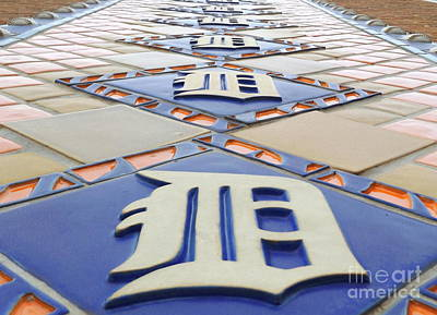 Photograph - Detroit Tigers Tiles by Erick Schmidt