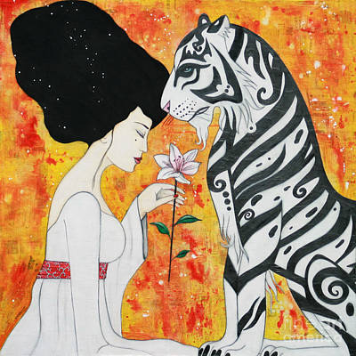 Art Print featuring the mixed media Devoted by Natalie Briney