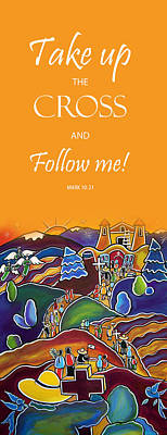 Painting - Devotional Art Banner - Scripture From Mark by Jan Oliver-Schultz