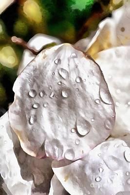 Painting - Dewdrops On Almond Tree Flower by George Atsametakis