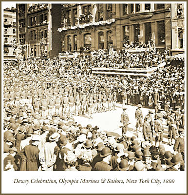 Photograph - Dewey Celebration, Marines And Sailors Of The Olympia, 1899 by A Gurmankin