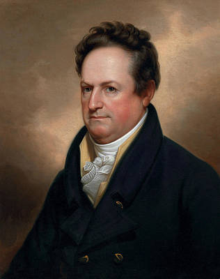 New York Painter Painting - Dewitt Clinton by Rembrandt Peale