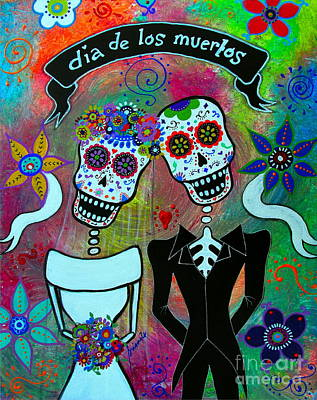Painting - Dia De Los Muertos Special Wedding by Pristine Cartera Turkus