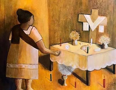 Painting - Dia De Muertos  by Thelma Delgado