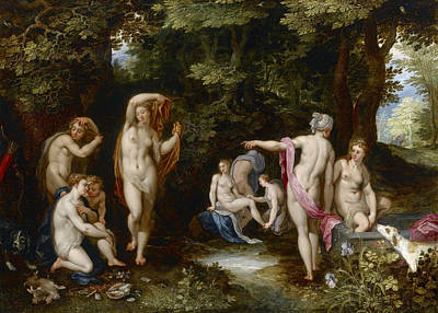 Painting - Diana And Actaeon by Jan Brueghel the Elder
