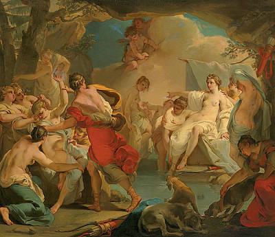 Goddess Mythology Painting - Diana And Callisto by Gaetano Gandolfi