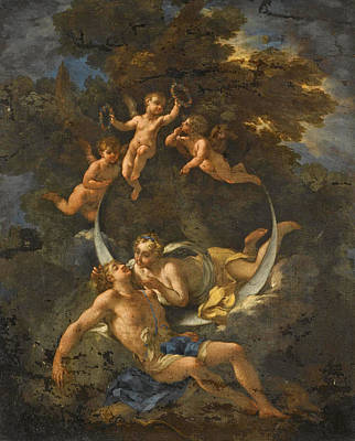 Rocca Painting - Diana And Endymion by Michele Rocca