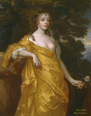 Blossom Painting - Diana Kirke, Later Countess Of Oxford by Peter Lely