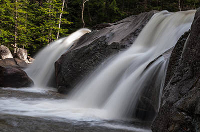 Photograph - Diana's Baths Waterfalls In Bartlett, New Hampshire by Brenda Jacobs