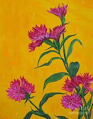 Painting - Dianthus At The Door by Lizi Beard-Ward