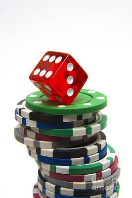 Large Group Of Objects Photograph - Dice And Gambling by Bernard Jaubert
