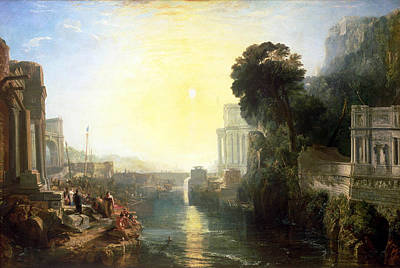 Outlook Painting - Dido Building Carthage by JMW Turner