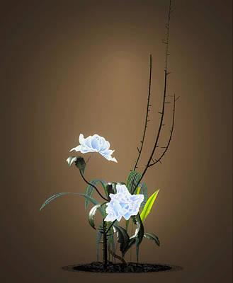 Digital Art - Digital Flower Arrangement by GuoJun Pan