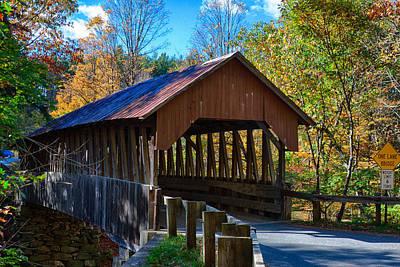 Photograph - Dingleton Hill Covered Bridge by Jeff Folger