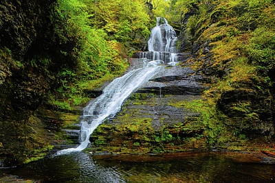 Photograph - Dingmans Falls  Ranges 2 by Raymond Salani III