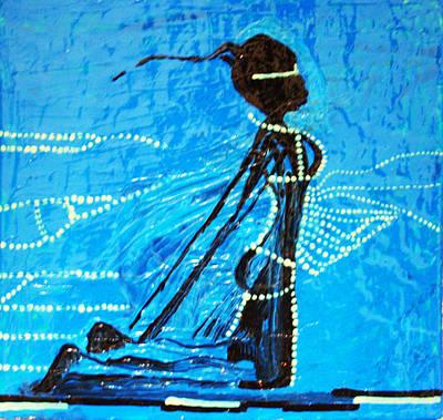Dinka Lady - South Sudan Art Print