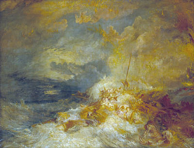 Great Wave Painting - Disaster At Sea by JMW Turner