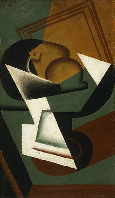 Of Fruit Painting - Dish Of Fruit by Juan Gris