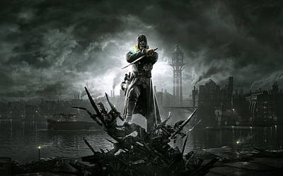 Skyline Digital Art - Dishonored by Maye Loeser