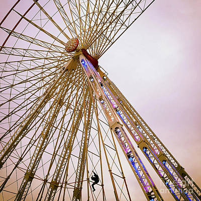 Dismantling Of A Ferris Wheel. Art Print