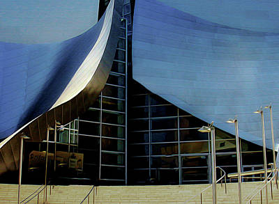 Photograph - Disney Concert  Hall by Joseph Hollingsworth