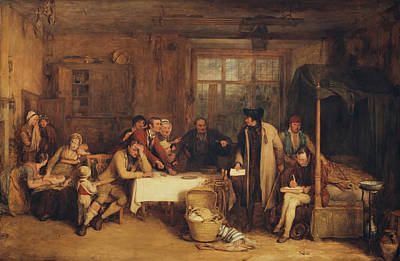 Distraining For Rent Art Print by Sir David Wilkie