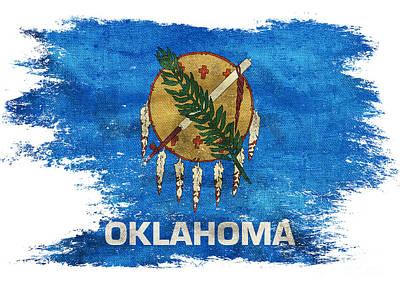 Oklahoma Photograph - Distressed South Dakota Flag by Jon Neidert