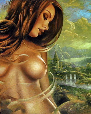 Fantasy Art Painting - Diva by Arthur Braginsky